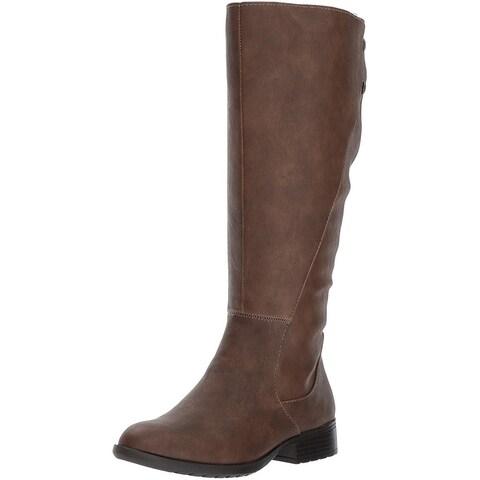 LifeStride Womens Xripley Almond Toe Mid-Calf Fashion Boots