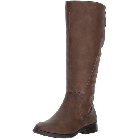 LifeStride Womens Xripley Almond Toe Mid-Calf Fashion Boots
