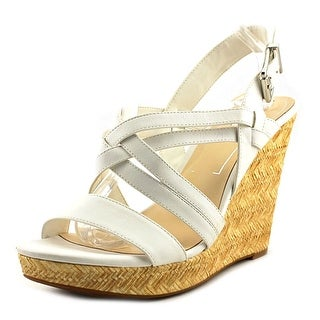 Jessica Simpson Julita Women Open Toe Synthetic White Wedge Sandal