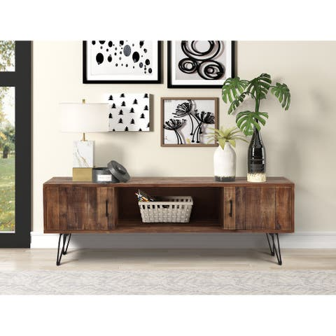 """Middleton Reclaimed Solid Wood Hairpin leg 60"""" TV Console"""