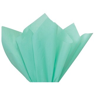 "Pack Of 480, Solid Aqua Tissue Paper 20 x 30"" Sheet Flat Ream Made From 100% Post Industrial Recycled Fibers"