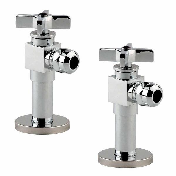 2 Toilet Angle Stop Valve 1/2 FIP 1/2 OD Heavy Duty Brass | Renovator's Supply