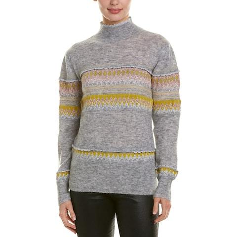Bcbgmaxazria Mixed Intarsia Wool & Mohair-Blend Sweater
