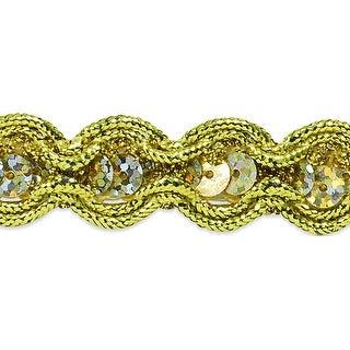 """River Sequin And Cord Trim 5/8""""X20yd-Gold"""