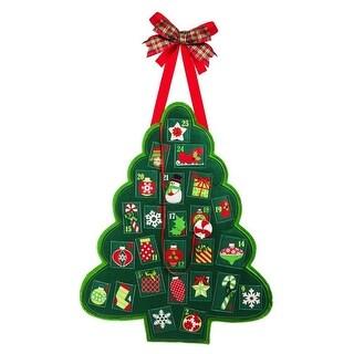 """Evergreen 2DHF1080BL Christmas Advent Felt Door Decor, 18-1/2"""" H"""