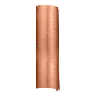 BESA Lighting 8194CF Torre 2 Light ADA Compliant Wall Sconce with Copper Foil Glass Shade