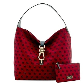 Dooney & Bourke Madison Signature Logo Lock Sac Bundle (Introduced by Dooney & Bourke at $248 in Jul 2016) - Cranberry