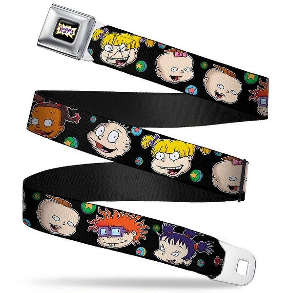 Rugrats Logo Rugrats Character Expressions Black Webbing Seatbelt Belt Seatbelt Belt
