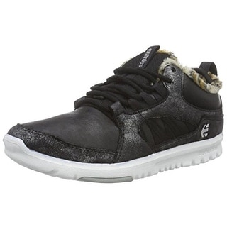 Etnies Womens Scout Skateboarding Shoes Metallic Faux Fur