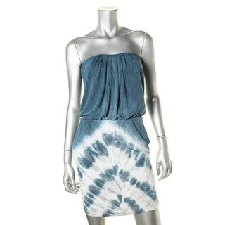 Young Fabulous & Broke Womens Strapless Tie-Dye Casual Dress