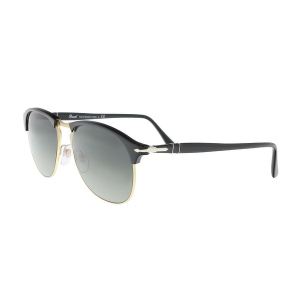1f1c67a44cb1 Shop Persol PO8649S 95/71 3N Black/Gold Round Sunglasses - 56-18-145 ...