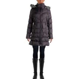 Via Spiga Womens Quilted Down Parka - S