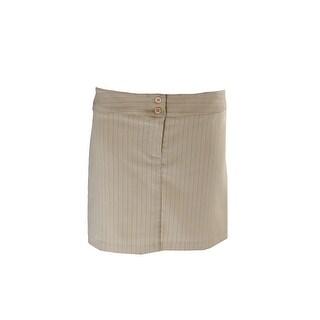 Laundry By Shelli Segal Tan Pinstripe Mini Skirt