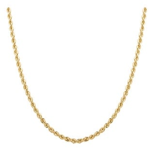 Pori 14K 2.5mm Diamond-Cut Rope Chain Necklace