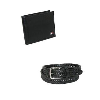 Tommy Hilfiger Men's Dress Belt and Bifold Wallet Set