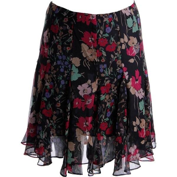 Lauren Ralph Lauren Womens A-Line Skirt Georgette Floral Print