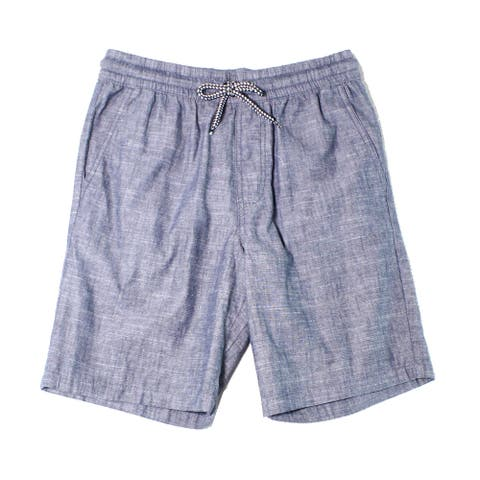 Retrofit Mens Shorts Indigo Blue Size Small S Drawstring Pull-On Woven