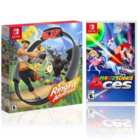 Nintendo RingFit Adventure Bundle with Mario Tennis Aces - Black