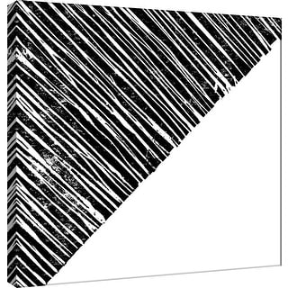 """PTM Images 9-101137  PTM Canvas Collection 12"""" x 12"""" - """"Starkly Lined B"""" Giclee Abstract Art Print on Canvas"""