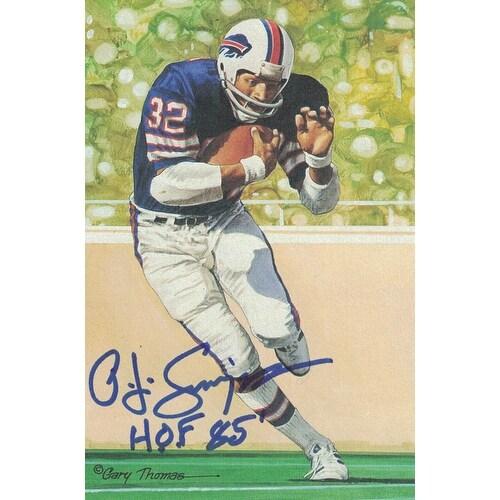 394419f51 Shop OJ Simpson Autographed Buffalo Bills Goal Line Art Card in Blue HOF JSA  - Free Shipping Today - Overstock - 18507926