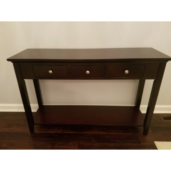 Ferndale Espresso Console Table   Free Shipping Today   Overstock.com    16088579