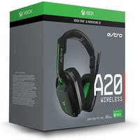 Logitech 939-001557 Astro A20 Wireless Headset - Stereo - Over-The-Head - Black/Green