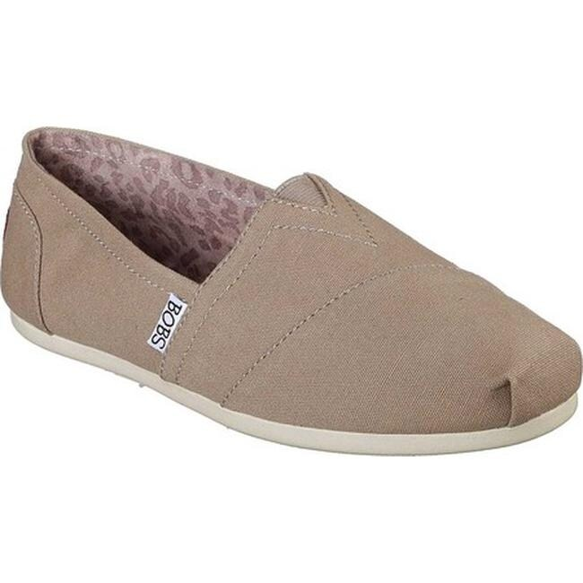 Shop Skechers Women's BOBS Plush Peace and Love Taupe On
