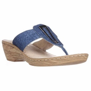 Bella Vita Sulmona Slide Wedge Sandals - Jeans, 6 W US