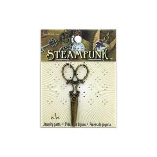 Solid Oak Steampunk Large Scissors