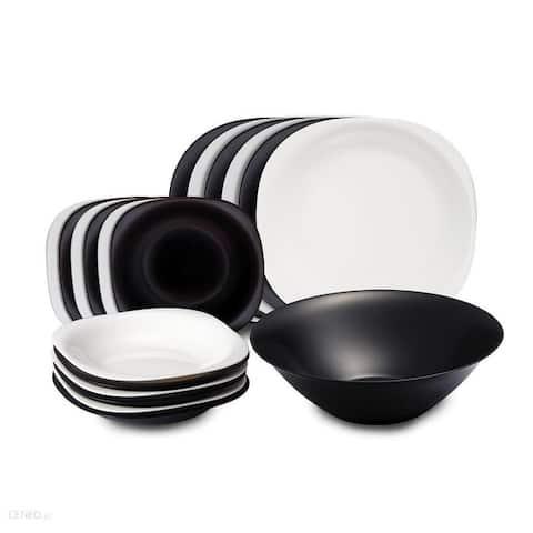 Luminarc Black and White Carine 19 Pc. Dinnerware Set for 6