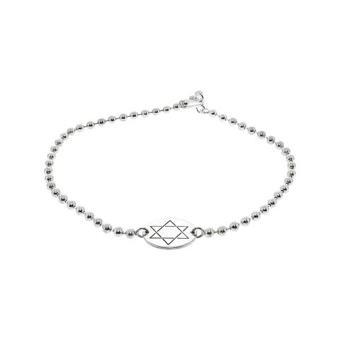 "Alex And Ani Women's Star Of David Charm Bracelet - 6"" - White"