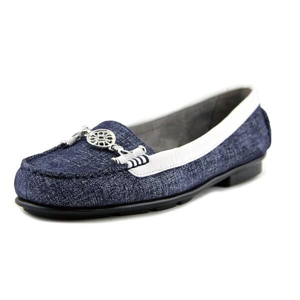 Aerosoles Nuwlywed Women W Round Toe Suede Blue Loafer