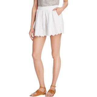 Free People Womens Casual Shorts Lace Pleated