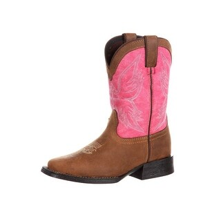 Durango Western Boots Girls Lil Mustang Kids Leather Brown