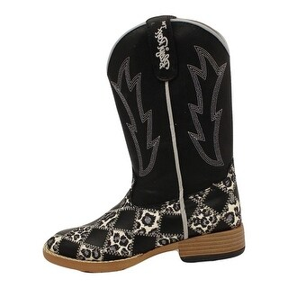 Blazin Roxx Western Boots Girls Kids Miley Patchwork Youth