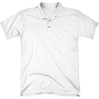 Elvis Aloha Gray (Back Print) Mens Polo Shirt