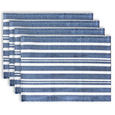 Fabstyles Broadway Set of 4 Stripe Cotton Placemats - 13x19