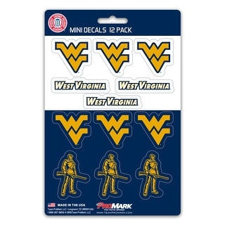 West Virginia Mountaineers Decal Set Mini 12 Pack