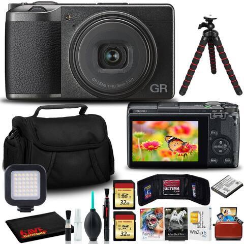 Ricoh GR III Digital Camera with (2)32GB SD, Tripod, Mac Software Kit,