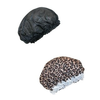 CTM® Women's Satin Hair Roller Sleep Cap Cover (2 Pack)