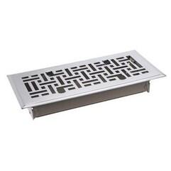 "TA Industries C167-MSN 04X10 Floor Register, 4"" x 10"", Satin Nickel"