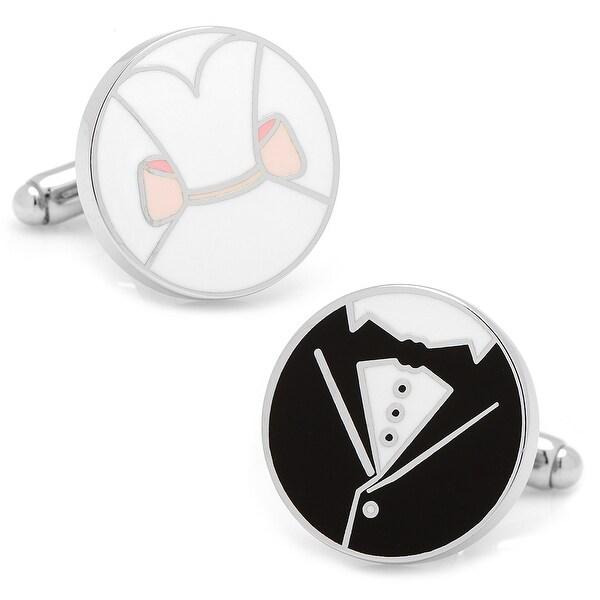 Bride and Groom Wedding Cufflinks
