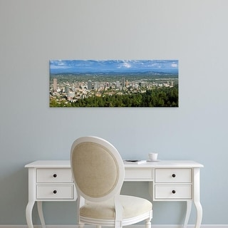 Easy Art Prints Panoramic Images's 'Portland skyline from Pittock Mansion, Multnomah County, Oregon, USA' Canvas Art