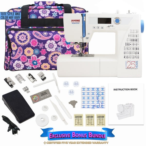 Janome NQM2016 National Quilt Museum 25th Anniversary Edition Bundle