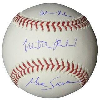 Matthew Broderick Mia Sara Alan Ruck Rawlings Official MLB Baseball Ferris Bueller Cast