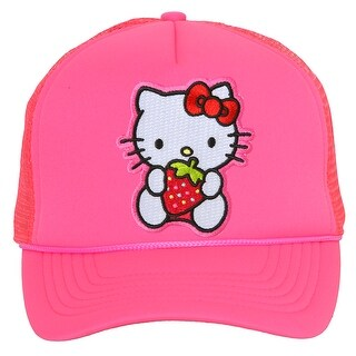 Hello Kitty Strawberry Hot Pink Trucker Mesh Snapback