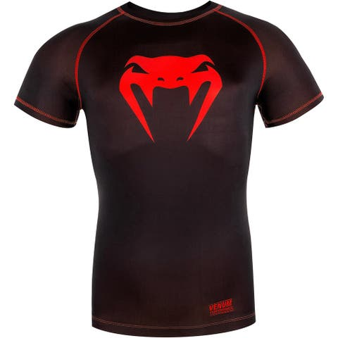 Venum Contender 3.0 Short Sleeve Compression T-Shirt - Black/Red