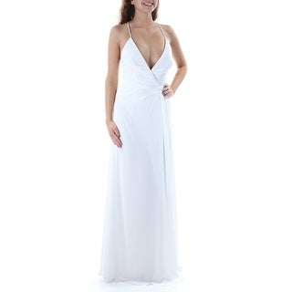FAME AND PARTNERS $249 Womens New 2054 Ivory Backless Strappy Pencil Dress 4 B+B