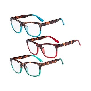 Link to Ladies Reading Glasses - 3 Pack Large Lens Stylish Readers for Women Similar Items in Eyeglasses
