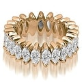 2.88 cttw. 14K Rose Gold Marquise Diamond Eternity Ring - Thumbnail 0